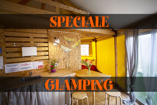 SPECIALE GLAMPING BUNGALOW TENT 4 PERSONNES